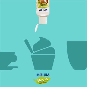 Provate Misura Stevia liquido, ideale per #yogurt e tutti i tipi di #bevande, fredde o calde!