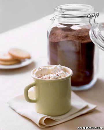 Homemade Hot Chocolate -- After reading the ingredient lists on store bought hot cocoa mixes, I'll be making this.