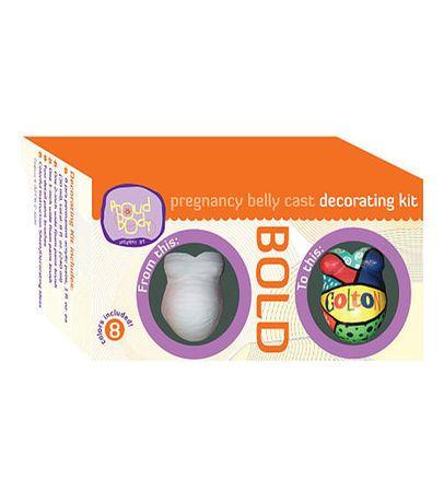 ProudBody Bold Pregnancy Belly Cast Decorating Kit