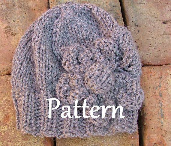Knitting PATTERN ONLY for The Simply Flower Hat $5.00 USD
