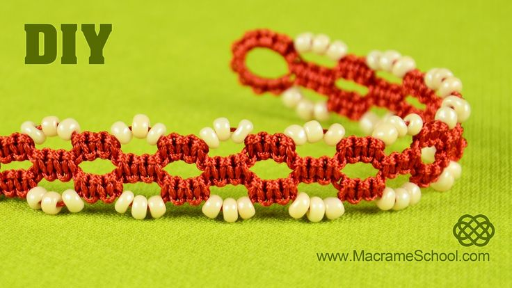 DIY Easy Square Knot Bracelet with Beads and Button clasp