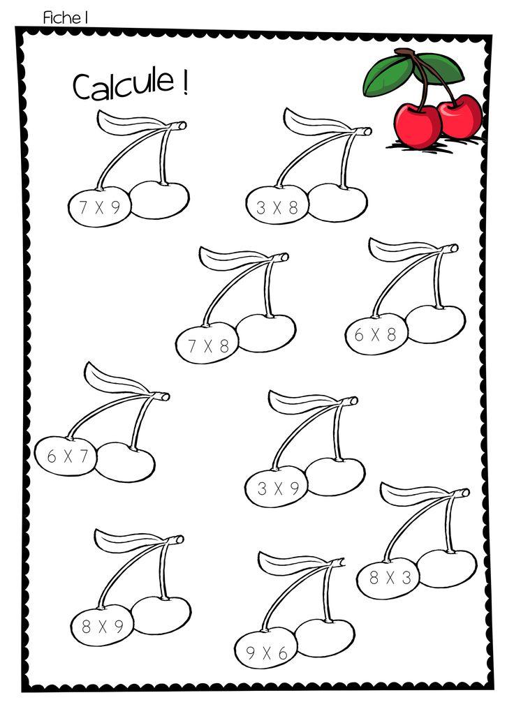 Les 304 meilleures images du tableau multiplication sur for Multiplication jeux