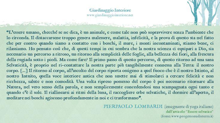 Ecopensiero di Pierpaolo Lombardi (insegnante di yoga italiano)
