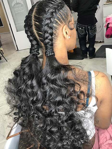 Black Braided Hairstyles Creative Braids For Black Hair