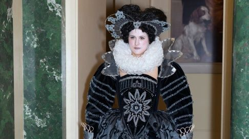 Costume parade by students of Wimbledon College of Art at Windsor Castle