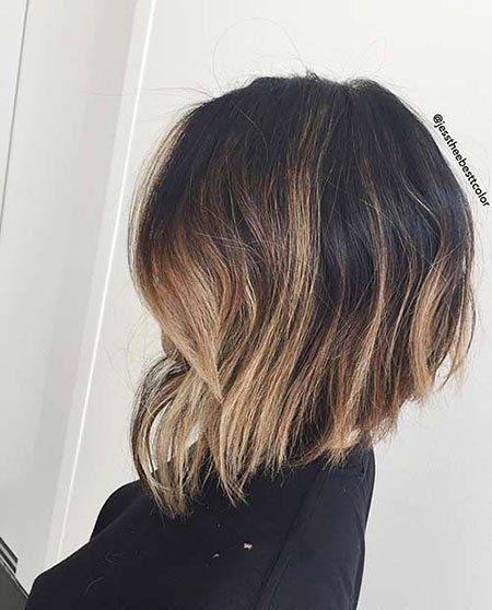Moderne invertierte und abgewinkelte Bob-Frisuren – Fashion 2D