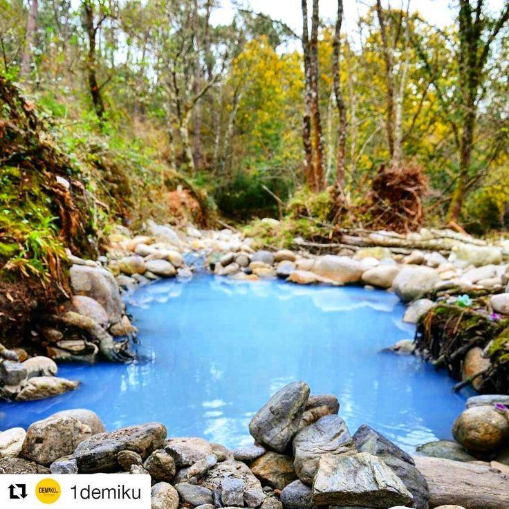 Las termas ♨ de #Prexigueiro, una opción ideal  para relajarse al aire libre y gratis este #invierno ❄ en #Rivadabia  La fotografía  es mérito de @1demiku  #SienteGalicia