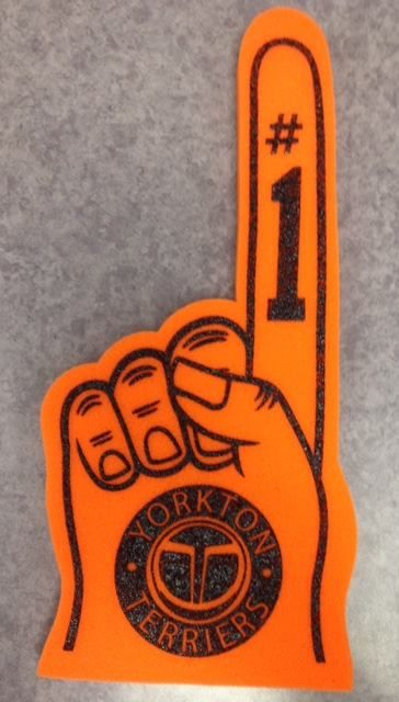 Foam Fingers in different colors, sizes, and with different designs!!