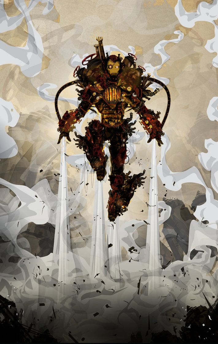 Steampunk Iron Man by ChaseJC on DeviantArt