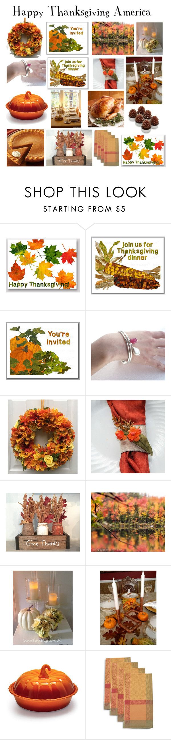 """""""Happy Thanksgiving America"""" by belladonnasjoy ❤ liked on Polyvore featuring interior, interiors, interior design, home, home decor, interior decorating, Hostess, Sur La Table, america and happy"""
