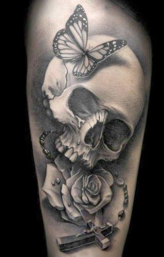 skull couple tattoos - Căutare Google