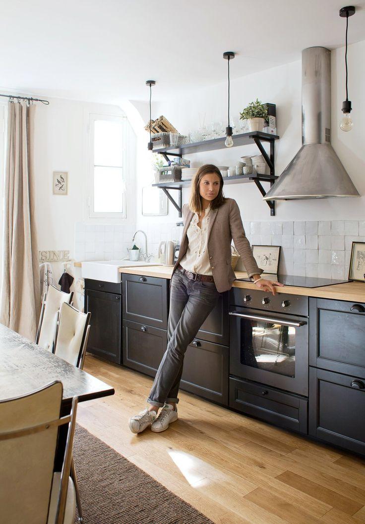 Les 25 meilleures id es de la cat gorie cuisine gris for Poignee cuisine noire