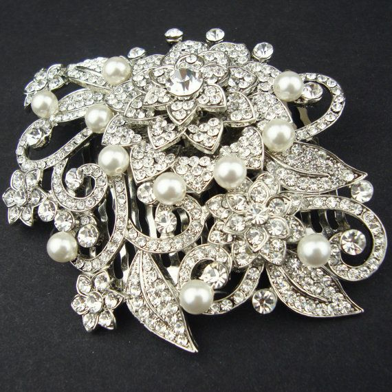 Victorian Style Wedding Hair: Victorian Style Bridal Hair Accessories, Pearl & Crystal