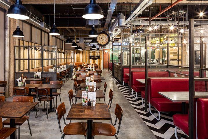 Handmade Burger Co Restaurant by Brown Studio, Birmingham – UK » Retail Design Blog
