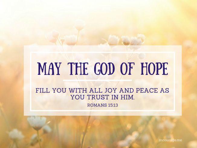 Romans 15:13 // An Easter Prayer // incourage.me