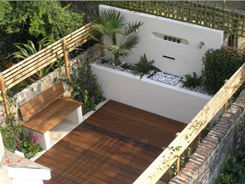 terraza decorada moderna oriental