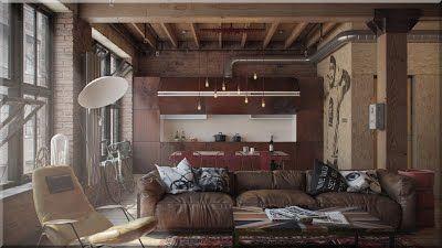 loft stílusú lakás
