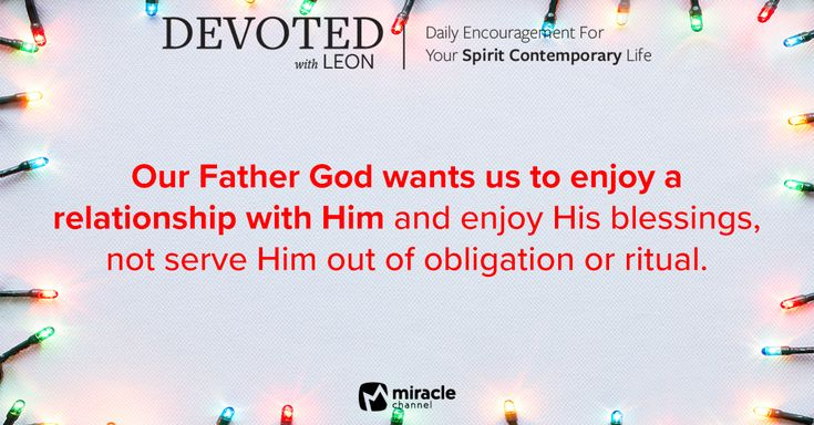 December 31 - God Wants You to Enjoy His Blessings! #MiracleChannel #Devoted #December