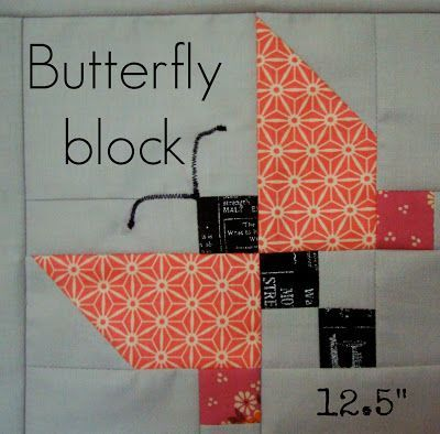 Butterfly quilt block - Charm About You