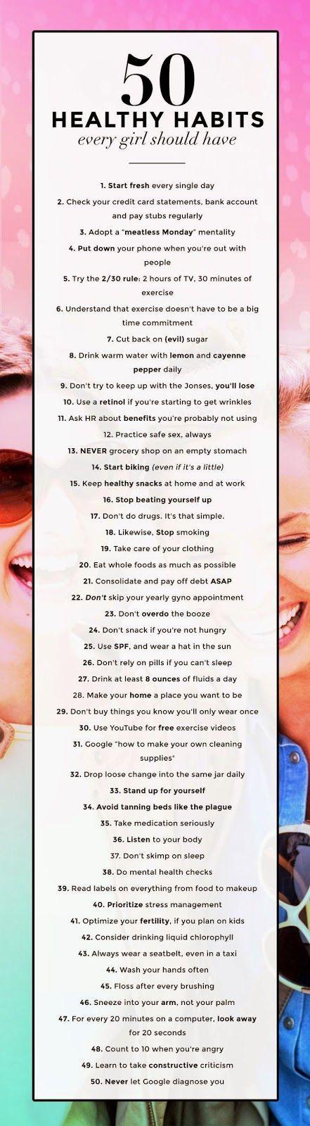 50 healthy habits.