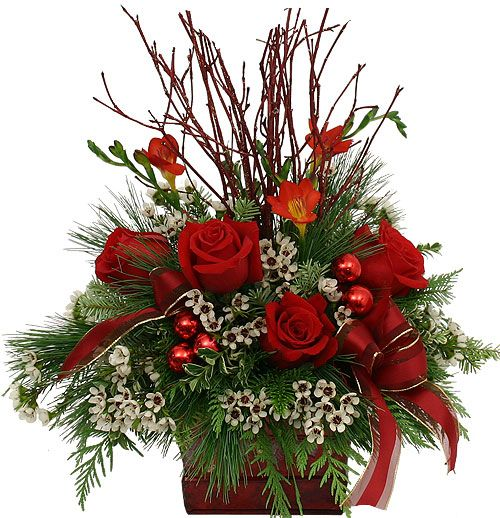Best 25 christmas arrangements ideas on pinterest for Poinsettia arrangements