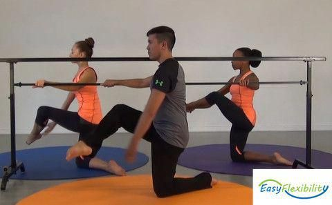 attitude devant front attitude  flexibility training