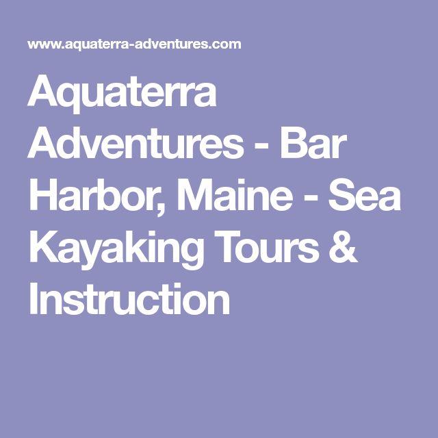 Aquaterra Adventures - Bar Harbor, Maine - Sea Kayaking Tours & Instruction
