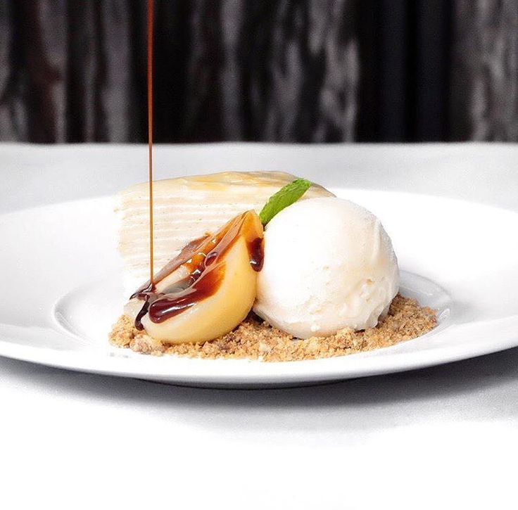 Delicious plated dessert by Valrhona Cercle V Pastry Chef Aya Fukai of Maple & Ash!