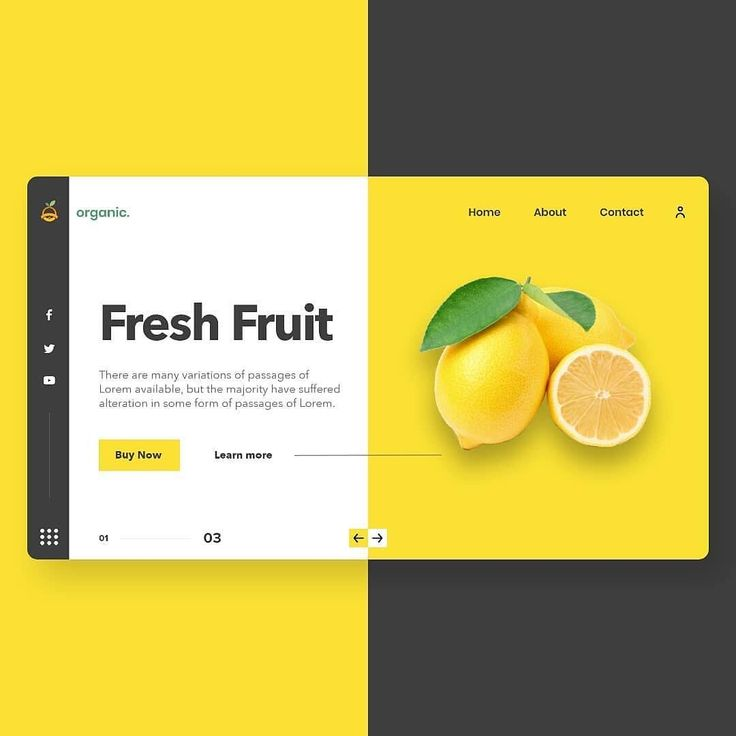 Organic food website concept by ThemeCanyon⠀ #interface #mobile #design #appli…