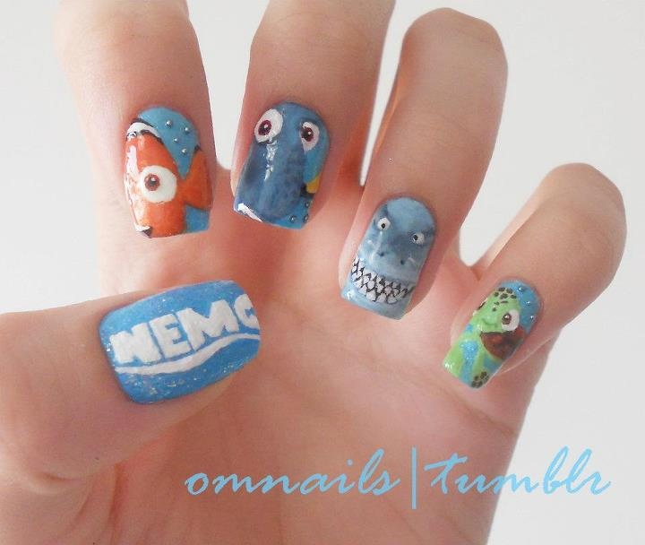 The 9 best images about finding dori nail art on pinterest nail nemo prinsesfo Gallery
