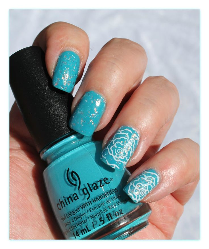 China Glaze Wait`Sea og Luxe And Lush med stempel.