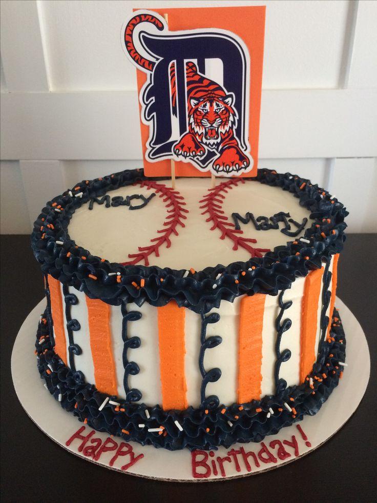 Detroit Tigers cake The Sweet Side www.enjoythesweetside.com