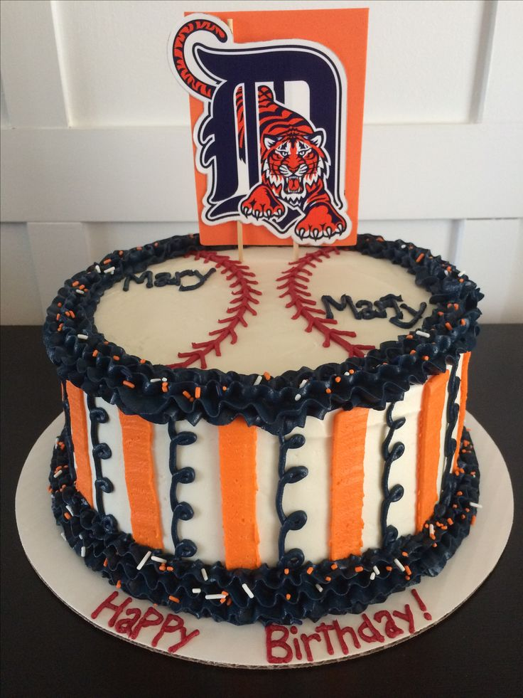 Detroit Tigers cake The Sweet Side www.enjoythesweetside.com