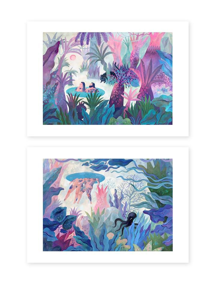 ROSEMARY BLUE / Limited edition Giclée Prints / Set of 2