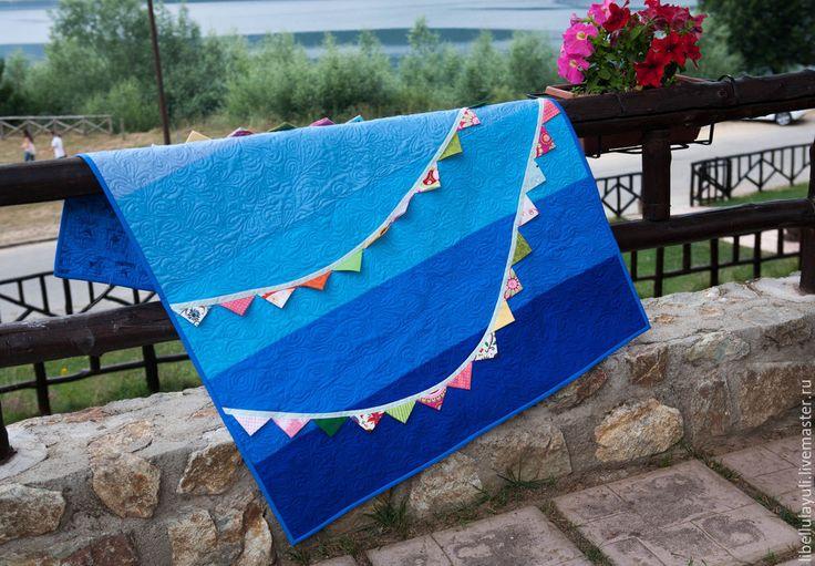 """Купить Лоскутное одеяло """"Небо"""" - лоскутное одеяло, детское лоскутное одеяло, детское одеяло"""