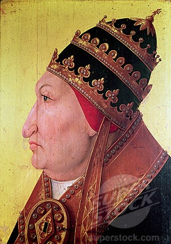 The Worst Pope ever: Rodrigo Borgia (Alexander VI 1492-1503) Thanks to his convenient social status he was able to buy his way into the papacy. He sired at least seven illegitimate children and didn't hesitate to reward them with handsome endowments at the church's expense. When low on finances, he either established new cardinals in return for payments, or he slammed wealthy people with completely fabricated charges, jailed or murdered them for said false charges, and then stole their money.: Borgias, Alessandro Vi, Borgia History, Borgia 1492, 1492 1503 Alessandro, Borgia Alexander