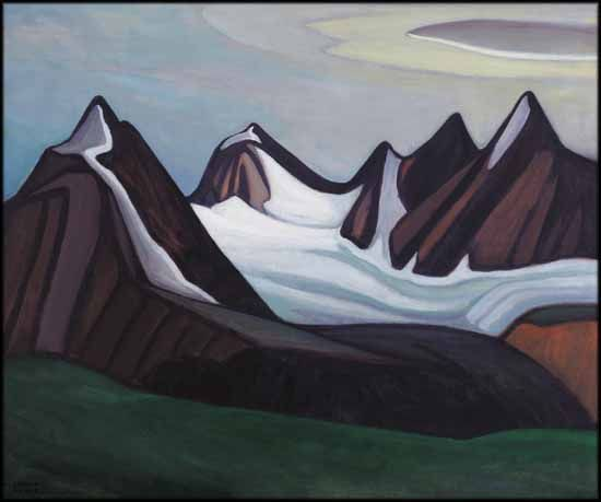 """Mountain and Glacier,"" Lawren Stewart Harris, oil on canvas, 29 1/4 x 35"", private collection."
