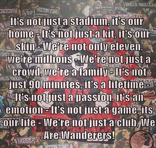 We are the Western Sydney Wanderers