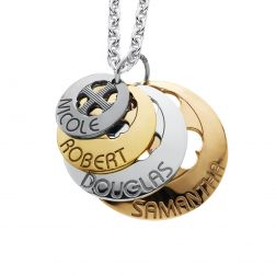 Personalized  Four Domed Disc Pendant (24mm). $144.50