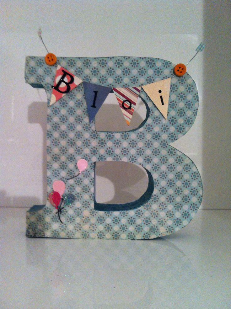 M s de 1000 ideas sobre letras de madera decoradas en - Casa letras madera ...