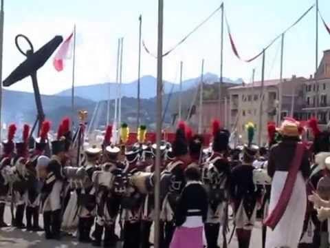 Napoleone Bonaparte sbarca all'Elba. Rievocazione del 4 maggio 2014 (par...