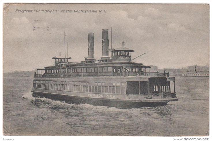 Ferries - AK -Fähre - Ferryboat PHILADELPHIA - 1911 - Passagierfähre