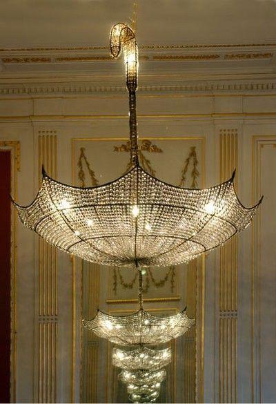 ysvoice:    | ♕ |  chandelier of umbrella  | by ZsaZsa Bellagio | via heartbeatoz