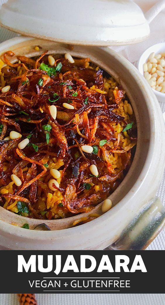 Mujadara ist ein einfaches veganes Reisrezept, das Sie leicht für Ihr Abendessen zubereiten können …