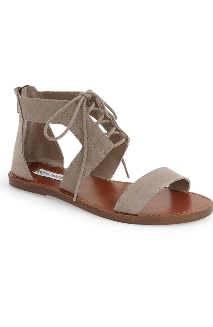Definitely needing these essential lace-up sandals finished with a zipper  at the back for