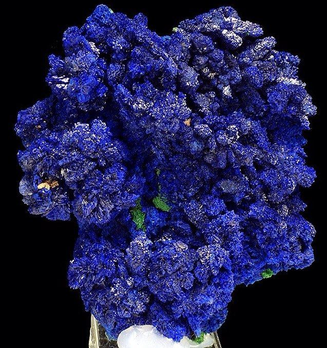 Azurite   #Geology #GeologyPage #Mineral Locality: Bou Bekker, Oujda-Angad Province, Morocco Size: 7.0 x 6.3 x 2.5 cm Photo Copyright © Spirifer Minerals Geology Page www.geologypage.com