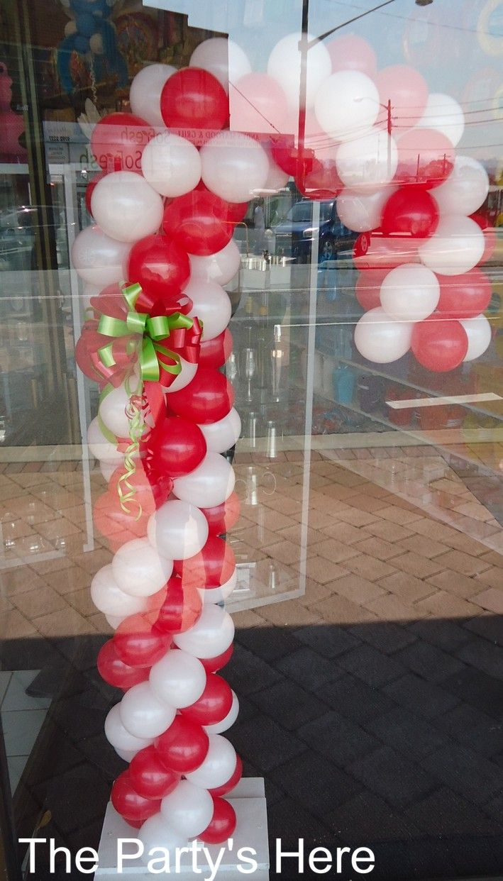 46 best our balloon columns sculptures images on for Candy cane balloon sculpture