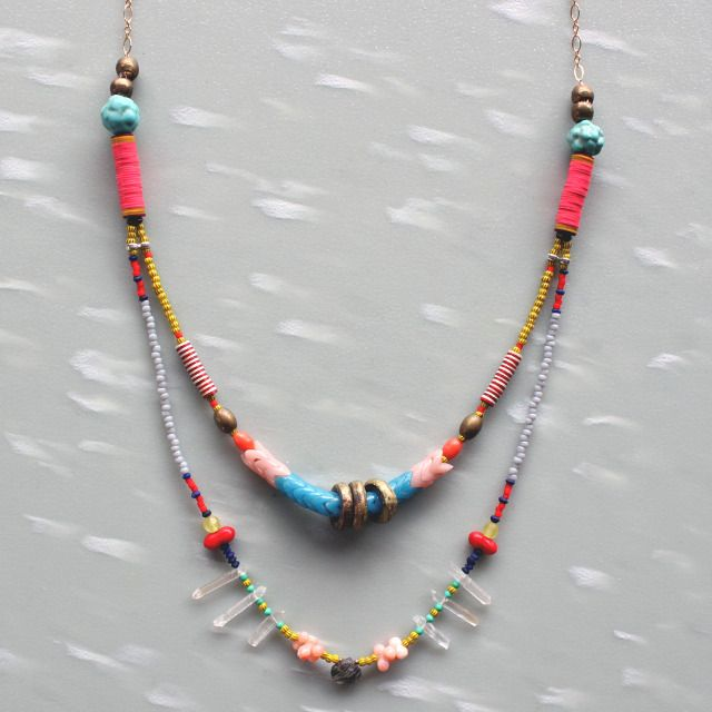 Image of Favorites Necklace II: Gardens Ideas, Garden Ideas, Necklaces Ii, Colors Beads, Multi Colors, Beads Necklaces, Favorite Necklaces, Adorable Necklaces, Ships