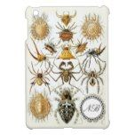 Haeckel Spinnen mit weißem Monogramm-Aufkleber iPad Mini Schutzhüllen