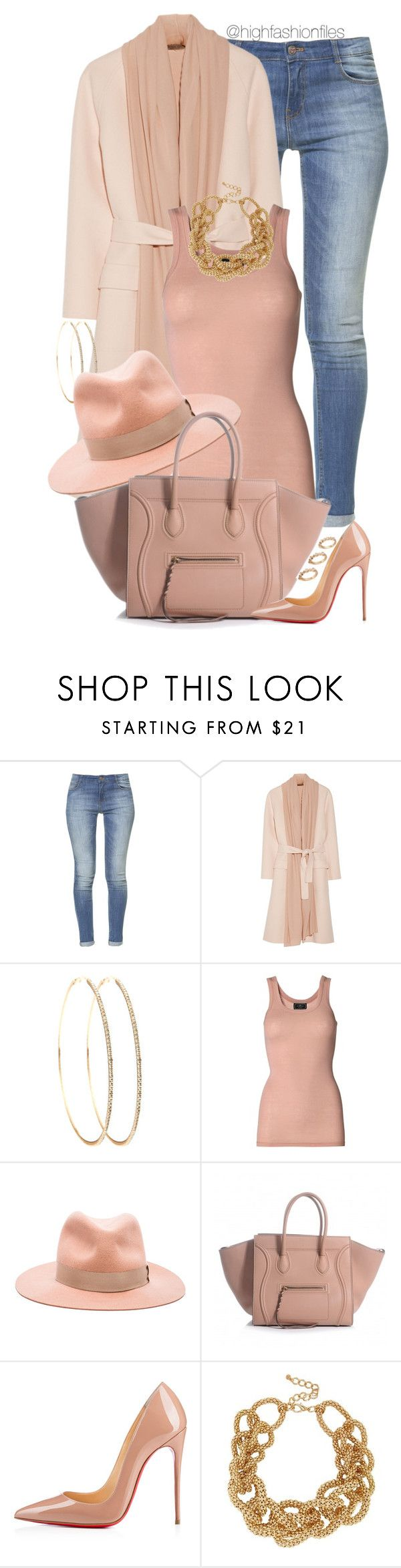 """!"" by highfashionfiles ❤ liked on Polyvore featuring Zara, Bottega Veneta, By Malene Birger, rag & bone, Christian Louboutin, River Island and ASOS"
